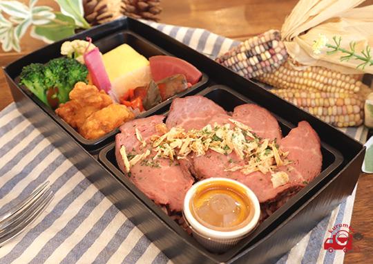 季節野菜とローストビーフ弁当