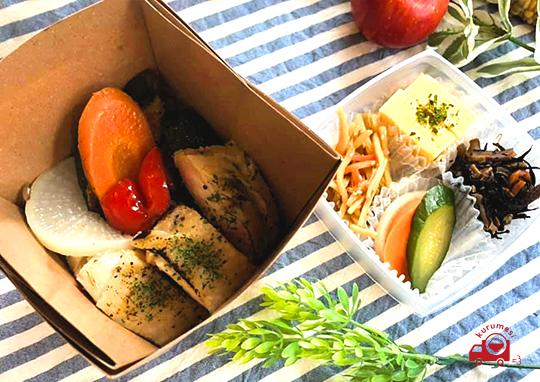 季節野菜とチキンソテーBOX
