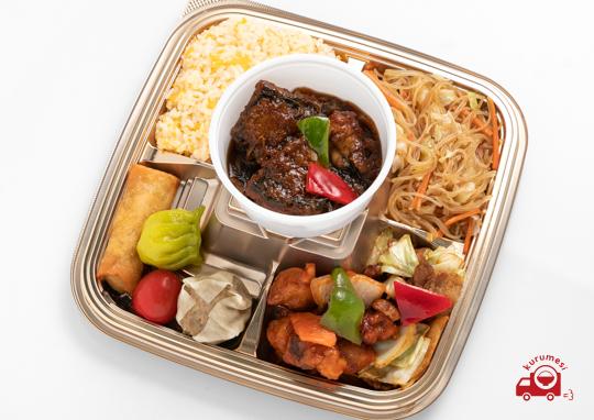 さばの醤油煮と特選中華のお弁当