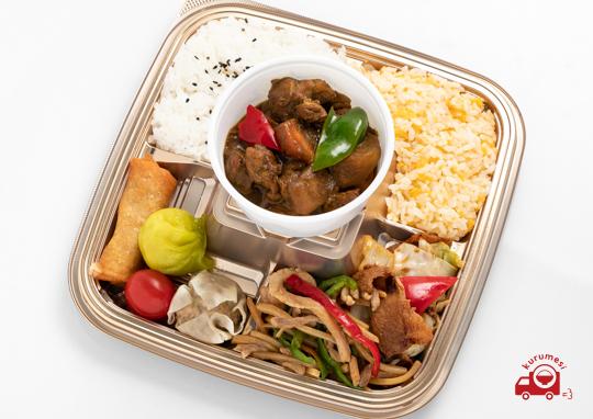 中華風カレーと特選中華のお弁当