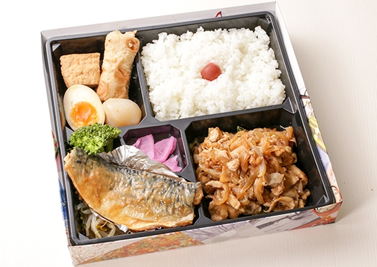鯖みそ&生姜焼き弁当(14015)