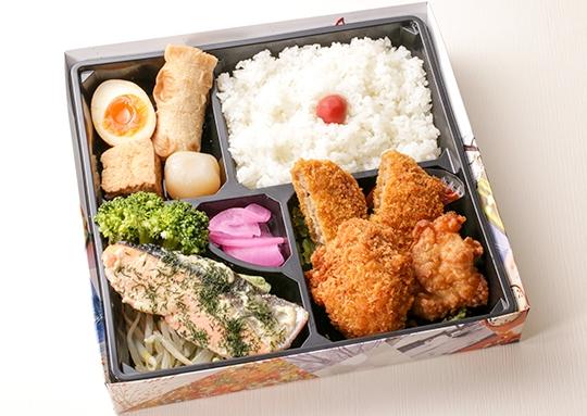 鮭のディルソース&ヒレカツ・メンチ弁当
