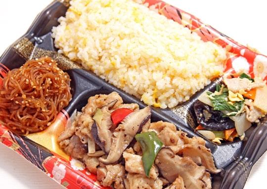 鶏肉と椎茸の蒸し物弁当