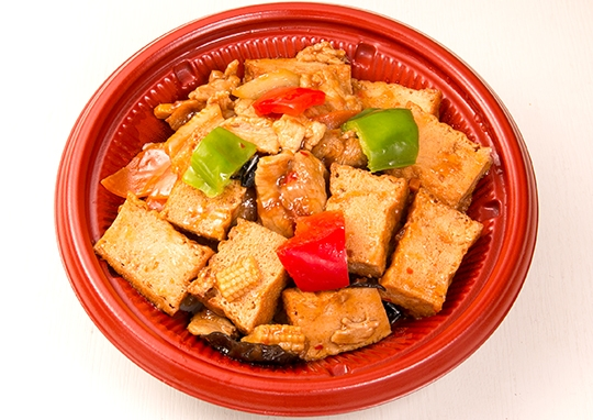 四川風揚出豆腐の辛味噌炒め丼