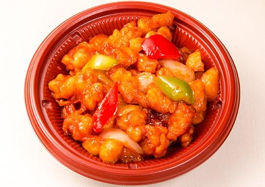 白身魚の甘酢丼