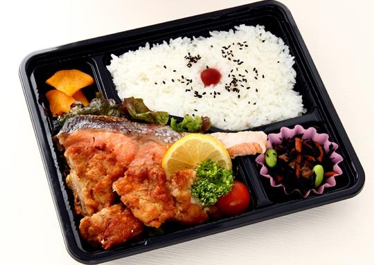 塩鮭焼き&若鶏の唐揚弁当