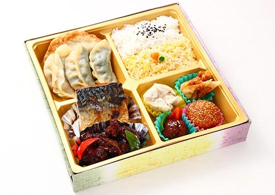 サバ塩焼き&鶏肉黒酢と餃子 特幕ノ内弁当
