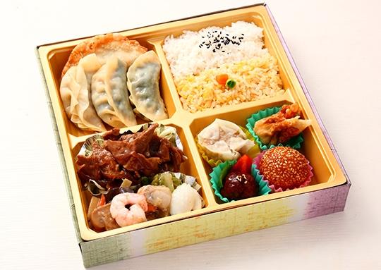 生姜焼き&海鮮塩炒めと餃子 特幕ノ内弁当