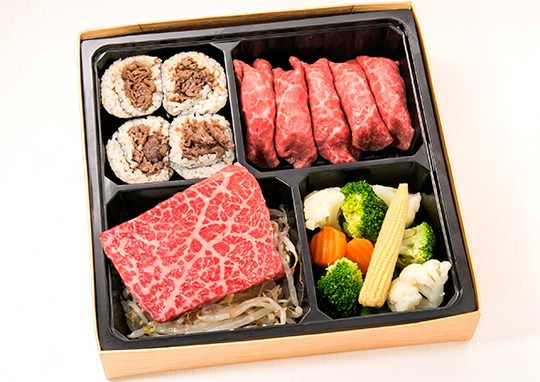 熟成肉のステーキ&黒毛和牛の肉寿司【A5ランク】
