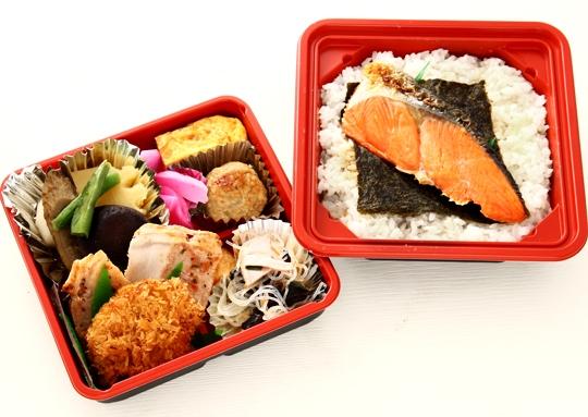 紅鮭のりご飯二段弁当