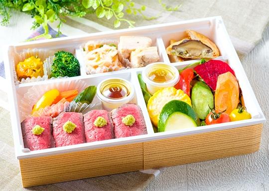 濃~い野菜とお肉のお寿司仕立弁当