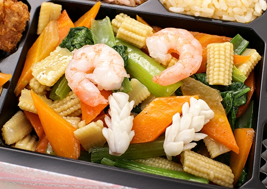 海鮮塩炒め弁当