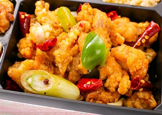 鶏肉の四川風弁当