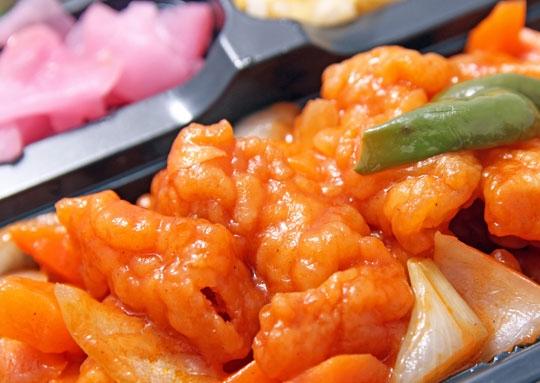 白身魚の甘酢感激弁当
