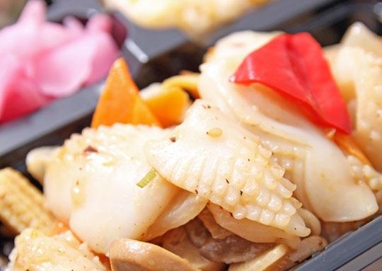 イカのXO醤炒め感激弁当