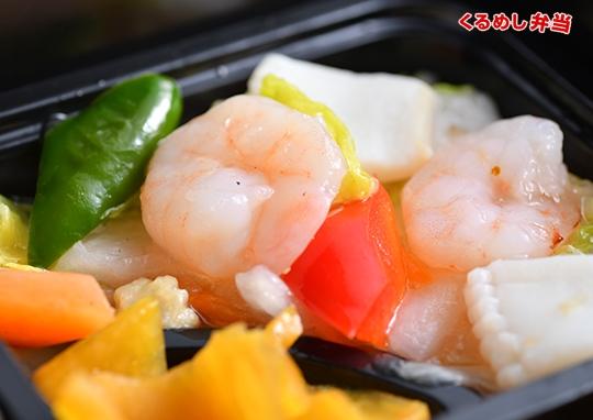 贅沢エビチリ&海鮮塩炒め弁当