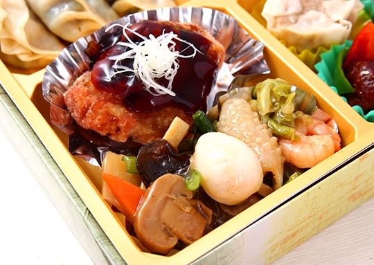 鶏照焼き&八宝菜と餃子 特幕ノ内弁当