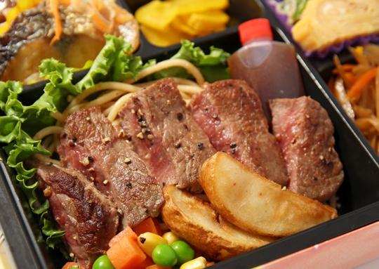ステーキ&おさかな幕の内