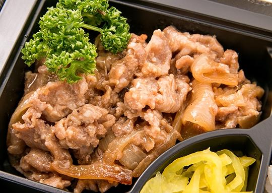 驚きの豚の生姜焼き弁当