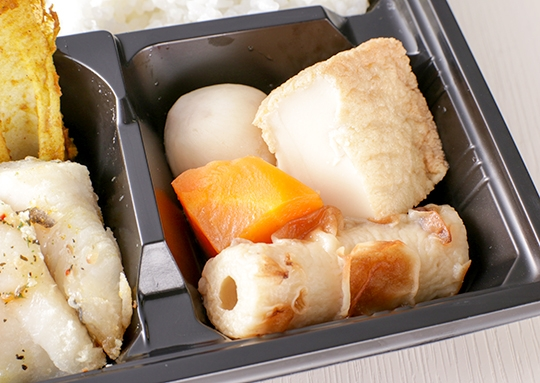 白身魚の香草焼きとおろしハンバーグ弁当