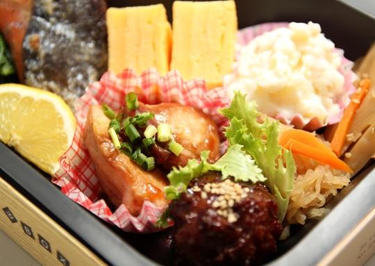 焼き塩鮭ガッツリ弁当
